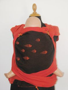 c50404320ef Wrap Conversion mei tai baby carrier from Girasol Coral and Didymos Fire  Fishes wraps.