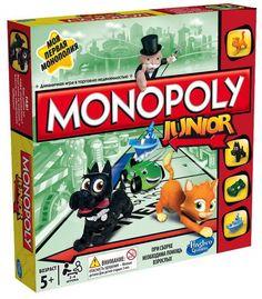 """«Моя первая монополия» - это адаптированная для малышей версия всемирно известной Монополии. Красочно и ярко выполненные элементы игры обязательно привлекут внимание будущих монополистов  Почему мы так уверены, что """"Monopoly Junior"""" понравиться вашему ребенку?  Игровое поле выполнено в виде круга, вокруг которого ездит говорящий автомобиль. Мистер Монополия, сидящий в авто, подскажет малышу в трудную минуту и не даст ему ошибиться в принятии решения. При этом основные принципы взрослой игры…"""