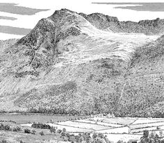 High Stile, from Buttermere - A Wainwright