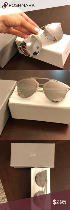 670c47451dc1 Dior Sunglasses Authentic Silver reflected Dior sunglasses- like new  condition Comes with Dior case