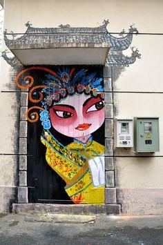 Street art. via Discover China