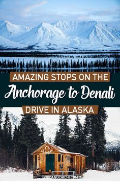 The 10 most spectacular stops on the scenic drive from Anchorage to Denali plus driving in Alaska travel and safety tips for an unforgettable trip. Anchorage Alaska, Denali Alaska, Talkeetna Alaska, Alaska Usa, Alaska Travel, Travel Usa, Alaska Trip, Cruise Travel, Cruise Tips