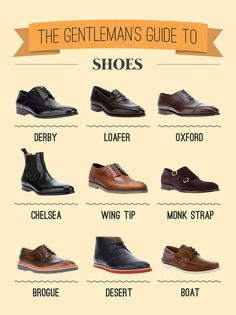 TOUCH this image: The Gentleman's Guide to Shoes by Design 1-2-3