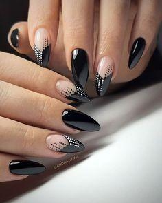 Best Acrylic Nails, Acrylic Nail Art, Acrylic Nail Designs, Nail Art Designs, Nails Design, Cute Nails, Pretty Nails, Broken Nails, Black Nail Designs