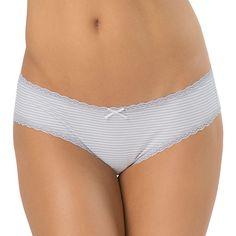 Juniors' SO® Lace-Trim Hipster, Women's, Size: Medium, Light Grey