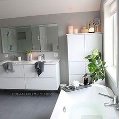 Siril (@trollsteinen_interior) • Instagram photos and videos Double Vanity, Architecture, Decoration, Bathtub, Diy, Photo And Video, Bathroom, Interior, Deco Design