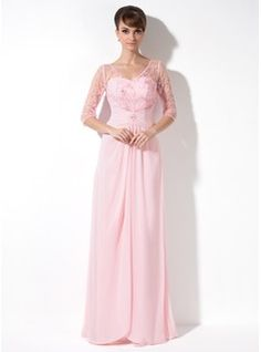 Mother of the Bride Dresses - $166.99 - A-Line/Princess V-neck Floor-Length Chiffon Tulle Mother of the Bride Dress With Ruffle Lace Beading Sequins  http://www.dressfirst.com/A-Line-Princess-V-Neck-Floor-Length-Chiffon-Tulle-Mother-Of-The-Bride-Dress-With-Ruffle-Lace-Beading-Sequins-008005989-g5989