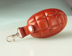 Mens Leather Key chain. Leather keyfob. Leather by secondstudio