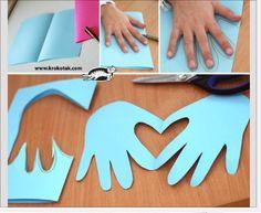 Hands --> heart  Card @Lizzie Molloy