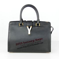 Yves Saint Laurent Medium & Small Cabas Chyc Bag Black