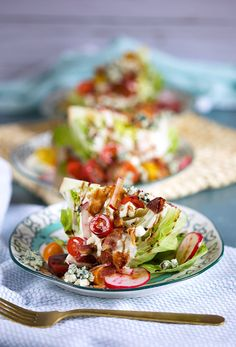 Loaded Iceberg Wedge Salad Recipe - The Suburban Soapbox Radish Salad, Pear Salad, Iceberg Wedge Salad, Legal Seafood, Wedge Salad Recipes, Food Fails, Salad Toppings, Classic Salad, Roasted Pear