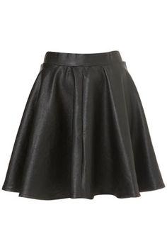 Black Full Skater Skirt