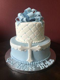 Baptism Cake Cross Cakes, Desserts, Baby, Food, Tailgate Desserts, Deserts, Essen, Postres, Meals