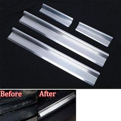 promo 4pcsset stainless car front rear 4 door sill entry guards plates protectors fit for jeep #steel #entry #doors