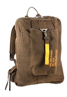 Vintage Canvas Flight Bags - Military Aviator Backpack Knapsack School Bag