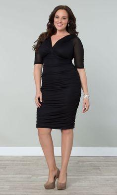 Betsey Ruched Dress: Kiyonna Clothing