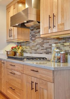 Contemporary Kitchen Birch Cabinet Design, Pictures, Remodel, Decor And  Ideas.kinda Like The Light Cabinet Color