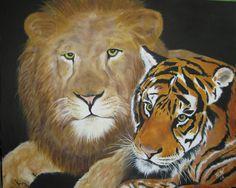 "oil on canvas ( FRIENDS)  16""X 20"" Lion Live Wallpaper, Live Wallpapers, Lions Live, Oil On Canvas, Friends, Painting, Animals, Art, Amigos"