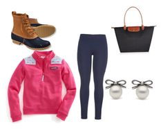 """""""Rainy lazy day outfit"""" by anna-hearne ❤ liked on Polyvore featuring L.L.Bean, Longchamp, Vineyard Vines and maurices"""