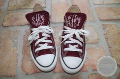 Monogram Converse by CoastCouture on Etsy, $65.00 #monogram #converse