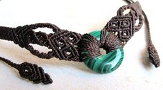 Macrame necklace  micro macrame necklace  genuine by Mediterrasian.
