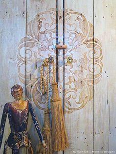 Stencil How To: A Rustic Cabinet Makeover with Modello® Stencils | Royal Design Studio