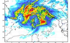 Lunedì di forte maltempo con Piogge e Temporali #previsioni #meteo #italia #maltempo