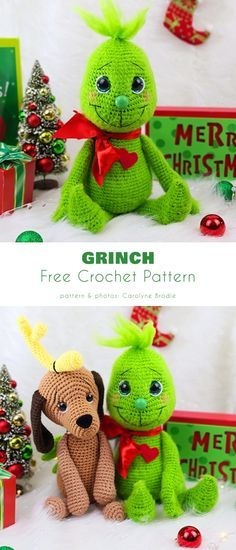 Crochet Amigurumi Free Patterns, Christmas Crochet Patterns, Holiday Crochet, Crochet Blanket Patterns, Crochet Dolls, Crochet Yarn, Crochet Stitches, Free Crochet, Christmas Crochet Blanket