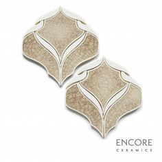 Encore Ceramics | Belvedere mosaic hand-glazed in Crema jewel and Bianca matte glazes | Sustainably made in Oregon