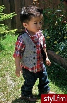 Kids fashion love it:) - flannel & vest