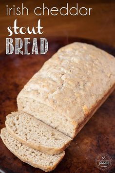 No yeast needed for this very easy homemade bread recipe. Moist and savory Irish Cheddar Stout Bread is easily sliced and tastes great with butter! Irish Bread, Baking Soda Uses, Soda Bread, Beer Bread, Irish Recipes, Lemon Recipes, Dessert Recipes, Desserts, Breads