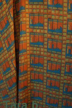 Manwindow Aqua  printed on silk crepe de chine