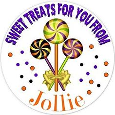 40 labels Circle Halloween lollypop Party Stickers, Personalized Labels, Custom Party Favor Tags, Choice of Size Halloween Labels, Halloween Stickers, Halloween Fun, Party Favor Tags, Personalized Stickers, Turning, Favors, Treats, Sweet Like Candy