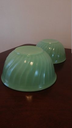 fire king jadeite swirl mixing bowl set of 2 vintage fire king by HappyVintageStudio on Etsy