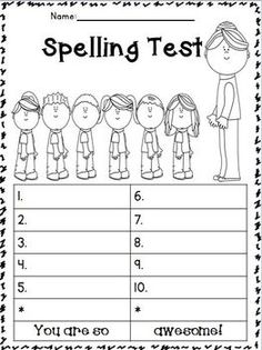 Back To School Spelling Test Templates! They Are A BIG HIT With My Students.