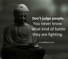 Never judge others unless you are open to being judged yourself by God!