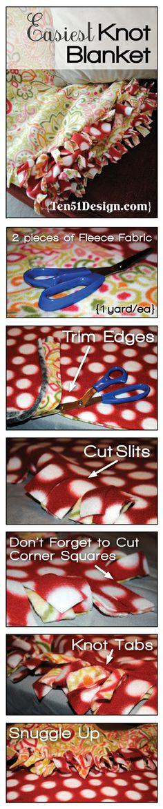 EZ Knot Blanket_Steps