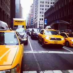Taxis all around