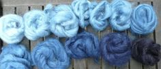 Shades of blue ~ dyeing with woad.