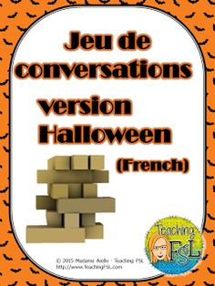 Teaching FSL - Halloween conversation starting questions to use with a Jenga set. Just number the tops of the blocks so that you can easily swap out other question sets!