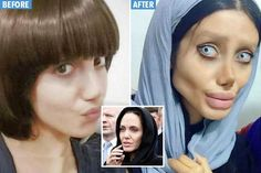 AN IRANIAN woman has gone viral after claiming she's had 50 surgeries in a bid to look like her idol Angelina Jolie. Sahar Tabar claims to be one of the Tomb Raider actress' biggest fan…