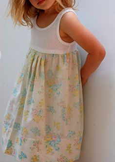 Quality Sewing Tutorials: Vintage Pillowcase Tank Dress tutorial from Hungie Gungie