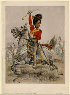 Scotland forever! - by Richard Woodville  Scots Grey at Waterloo.