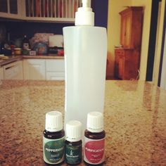Great natural, effective, Young Living essential oil bug spray to keep the ants out of the kitchen! Spiders do not like it either. #naturalbugspray