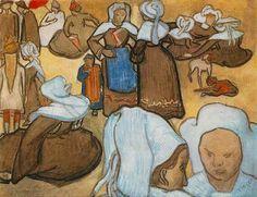 Donne bretoni. Vincent Van Gogh, 1888, Galleria d'arte moderna, Milano, acquerello