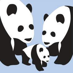 Graphic panda print for the kids room.