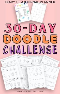 Up your doodling game with this super simple and easy 30-day doodle challenge! #doodle #bulletjournaldoodles #doodling Bujo Doodles, Love Doodles, Simple Doodles, Journal Layout, Art Journal Pages, Doodle Drawings, Easy Drawings, Doodle Quotes, You Doodle