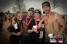 Want to run a Spartan Race?  Grab some friends and create a team like these Spartans at Spartan Race Indiana!