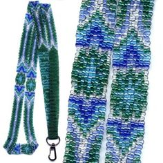 Navajo Lanyard : Beading Patterns and kits by Dragon!, The art of beading. Beaded Lanyards, Just For Fun, Bead Patterns, Navajo, Loom, Beading, Projects To Try, Cross Stitch, Dragon