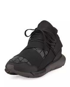 3563e3671 M2SU2 Y-3 Qasa Men s Reflective Print High-Top Trainer Sneaker